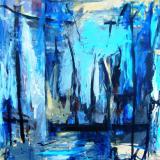 Akryl på lærred 90 x 100 cm