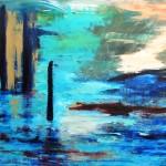 akryl på lærred 140x100 cm  solgt